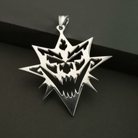 """Wholesale Boom Ship - NEW ICP Bang Pow Boom Charm Pendant Necklace 30"""" Insane Clown Posse Stainless steel high polished jewelry ship free"""