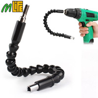 Wholesale Helpful Car Repair Tools Black mm Flexible Shaft Bits Extention Screwdriver Bit Holder Connect Link For Electronics Drill