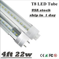 Wholesale Bright Feet Led - led tube IN US stock Super Bright T8 4ft 1.2m 20w 22W LED tubes fluorecent tube light G13 4 feet PC SMD2835 led Lamps AC 85-265V