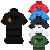Wholesale Long Sleeve American Flag Shirt - 2017 new high quality Summer Hot Sale Polo Shirt USA American Flag Brand Polos Men Short sleeves Sport Polo Man Coat Drop Free Shipping