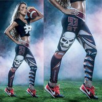 Skinny,Slim sport briefs cool - 2017 new arrival girls sport wear cool skull tights fashion womens quality tights casual hip hop leggings women briefs trousers