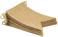 Wholesale burlap wedding banners - 15pcs Flag Burlap Banner, DIY Decoration for Wedding, Baby Shower and Party