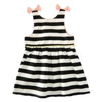 Wholesale Tubes For Boats - 2017 Baby Girls Bow Tube Dresses Kids Cotton Clothes Children Summer Sleeveless Dress for 80-120cm
