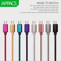 Wholesale Metal Case For Usb - Micro USB Cable Fast Phone Charge USB Metal Case Data Cable 1m 2m 3m Data Sync Cable For Samsung HTC LG Android Micro