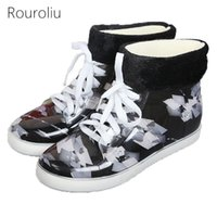 Wholesale Fashion Rain Boots Women - New Arrivals Women Fashion PVC Lace-up Rain Boots Flat Heels Winter Warm Ankle Rainboots Colorful Water Shoes Wellies ZJ183