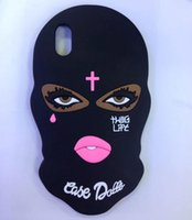 Wholesale Cases For Iphone Cross - 3D Cute Masked Teared Girl Jesus Christian Cross Cover Case for iPhone X 6s 6 7 7plus 5 5S SE iphone 8 plus