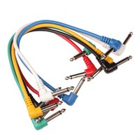 Wholesale effects for guitars resale online - Set of Colorful Guitar Patch Cables Angled for Guitar Effect Pedals Stringed Instruments Guitar Parts Accessories