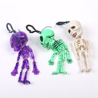 Wholesale Evil Toys - Halloween Prop Pull Wire Human Skeleton Head Human Body Human Skeleton Skeleton Halloween Evil Do Gift Toys