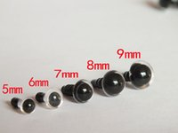 Wholesale 5 mm mixed size Plastic Clear Eyes For Animal Puppet Popul Craft Teddy Bear Doll