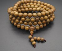 Wholesale Handcraft Tibet - Traditional handcraft Green Sandalwood Necklace 8mm108 Men Lady Wood Bracelet