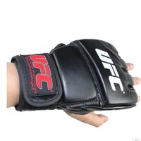 Wholesale Taekwondo Fighting Gloves - Extension wrist leather mma fighting Kick boxing gloves training taekwondo gloves (black grey)