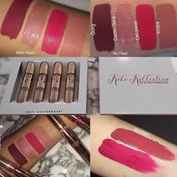 Kylie Jenner KOKO Kollection rossetto Set rossetto Koko + Kylie Cosmetics Kollaboration Gold Metal opaco KHLOE Limited Edition compongono