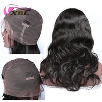 Wholesale short natural hairstyles resale online - xblhair full lace human hair wigs virgin malaysian human hair straight body wave human hair wigs within hours delivery