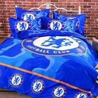 Wholesale Double Bedding Sets - Wholesale- popular football children bedding set duvet cover bed sheet pillow cases 3 4pcs queen double full twin size bed linen set