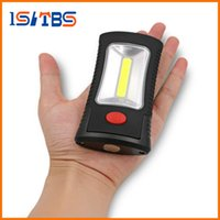 Wholesale Led Lamp Torch Magnetic - Ultra Bright 2-Mode COB LED Camping Tent Lamp 3 LEDs Flashlight Torch Magnetic Working Folding Hook Lights Outdoor Lanterna Lamp