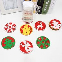 Wholesale Dinners Coaster - Christmas Drink Coasters Placemats For Table Dinner Coffee Coaster Water Insulation Pads Christmas Decoration Supplies XL-X19