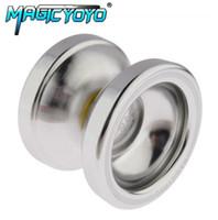 Wholesale T6 Yoyo - Aluminum Design Professional Magic YoYo T6 Ball Bearing String Trick Alloy Kids Children Toy Gift