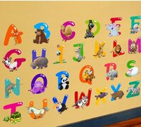Wholesale Decorative Wall Decals Letters - Stylish Decorative Removable Living Room Wall Stickers 26 English Letters PVC Wall Sticker