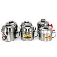 Wholesale Rice Boxes - lunch box Stainless steel bowl Kitchen Cooking Tools Rice bowl Large Stainless Mug Hot Sale Rice Soup Bowl Free Shipping