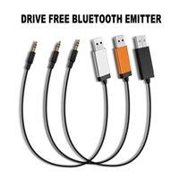 Wholesale Tv Device Transmitters - E2 USB Bluetooth Transmitter Adapter Receiver Transmitter with 3.5mm Audio Cable APT For Earphone Headphones TV PC BT Devices