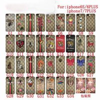 Wholesale Back Cover Iphone Silicone - New luxury Brand Snake tiger animal Famouse Embroidery case cover for iPhone 6 6s 6Plus 7 7Plus Back Cover with retail box