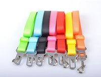 Wholesale Seat Pets Car - High Quality Pet supplies nylon Adjustable Pet Cat Dog safety belt Car Seat Belt Clip width 2.5cm dog car seatbelt dog chain