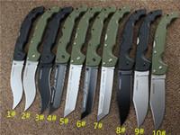ingrosso coltelli pieganti trasporto libero-10 tipi di COLTELLI VOYAGER in acciaio freddo serie XL-SIZE Coltelli tattici da caccia di sopravvivenza per grandi coltelli pieghevoli da esterno Spedizione gratuita.