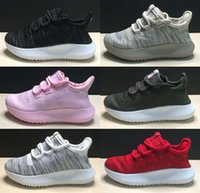 Wholesale With Shoebox New Tubular Shadow Knit Kids Running Shoes Ultra boost For Boys Girls Trainers Sneakers