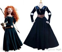 Wholesale Merida Party - OISK Custom-made Princess Brave Merida Royal Dress Cosplay Cartoon Character Halloween christmas party Costume adult size women clothes