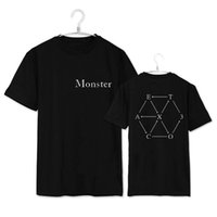 Wholesale Exo Baekhyun - Wholesale-kpop exo kar sehun xiumin baekhyun terra sticker t-shirt women t-shirt women exo t shirt harajuku exo