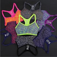 Wholesale Quick Wire - Women Fitness Yoga Sports Bra For Running Gym Padded Wire free Shake proof Underwear Push Up Seamless Fitness Top Bras