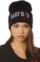 Wholesale Skulls Gangster Hats - New Classy Bitch BeanieCuffed Beanie Skull Cap Hip Hop Hat Unisex Men Women Warm Winter Knit hats Gangster Caps street
