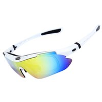 Wholesale Golden Fishing - Sports Sunglasses - Obaolay Polarized Cycling Sunglasses Women Men Sunglasses Mountain Bicycle Fishing Sun Glasses with 5 Lenses, 10 Colors