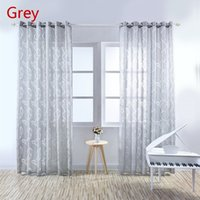 Wholesale 100CM CM Lattice Yarn Beauty Leaves Tulle Curtain Window Bedroom Translucent Vine Bubbles Sheer Curtains