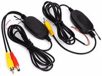 kit de vídeo sem fio venda por atacado-2016 2.4G Sem Fio Kit Transmissor Receptor de Vídeo RCA para Câmera de Visão Traseira Do Carro Monitor DVD Reversa Retrovisor Backup Câmera Cam