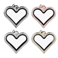 Wholesale unisex heart shaped glasses for sale - Group buy Necklace selling foreign trade jewelry necklace can open the glass phase box pendant heart shaped alloy pendant S137