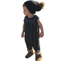 Wholesale High Neck Baby Bodysuit - Baby Rompers Bodysuit Stars 2017 Summer Flag Infant Girl One Piece Romper Sleeveless Newborn Clothes High Quality Kids Boy Jumpsuit Costumes