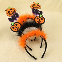 Wholesale Wholesale Feather Hat Bands - Halloween Headbands Hair Band Children   Adult Hair Accessories Pumpkin Hat Feather Wizard Hat Kids Party Headwear Hair Sticks Clasp A7597