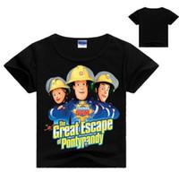 Wholesale Boys Fireman Sam - Summer boys clothes kids t-shirt boy 2017 fireman sam clothes cartoon short sleeves children fireman sam boys t shirt girls tops