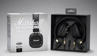 Wholesale Headphones Wireless For Dj - Marshall Major II 2.0 Bluetooth Wireless Headphones in Black DJ Studio Headphones Deep Bass Noise Isolating headset for iphone Samsung