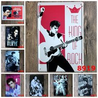 Wholesale home wall art painting - 20 cm Metal Tin Sign Elvis Presley Europe Singing Star Iron Painting Jailhouse Rock Tin Poster For Home Wall Art Decoration rjM KK