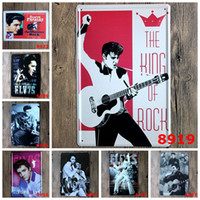 painting metal - 20 cm Retro Metal Tin Sign Elvis Presley Europe Singing Star Iron Painting Jailhouse Rock Tin Poster For Bar Hotel Hair Salon rjM