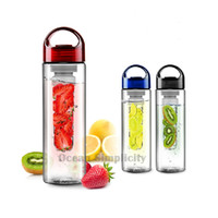 ingrosso bottiglia di frutta bpa free eu-2017 nuova bottiglia di acqua infusore frutta (colori multipli) BPA-Free infusione di frutta bottiglia sport bottiglia d'acqua Tritan