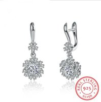 Wholesale Earring Crystal Swarovski Pendant - 2017 NEW Christmas snowflakes pendant eardrop earrings Made with Crystals from Swarovski for women's gift
