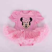 Wholesale Girls Superman Style Romper - Summer New Arrivals Baby Girls Romper & Kids Clothing 6 styles Minnie Superman and Santa Claus Rompers Veil