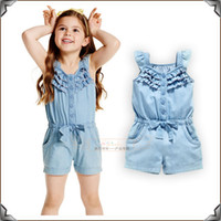 Wholesale Wholesale Performance Pants - 2017 new girls jean dresses on sleeves a pair of wings beautiful dress with bow belt like short pants