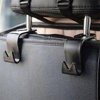 Wholesale Car Hook Holders Hangers - Universal Car Vehicle Back Seat Headrest Hanger SUV Storage Hooks Organizer Holder or Handbags Purses Coats and Grocery Bags MSHK136