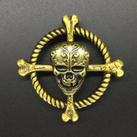 Wholesale Wholesale Crosses Metals - Metal Skull Spinner Cross-shaped Skull Spinner 2 Colors Zinc Alloy Hand Spinner Metal Fidget Spinners EDC Decompression Fidget Toys