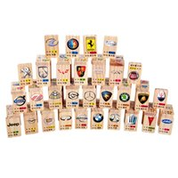 Wholesale Pines Toys - Dominoes 100pcs domino | color International Standards Pine production Car LOGO cognition wooden toys Science and education Tool kid toy