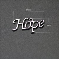 Wholesale wholesale guys jewelry - Come on Guys 109pcs hope Charms Pandora Antique Silver Alloy Jewelry Fit For Bracelet Pendants Necklace Man&Woman 27*13mm